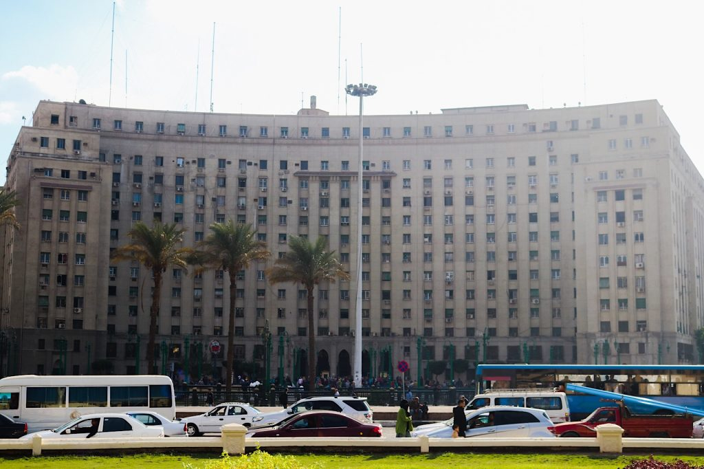 The Mogamma government building, Tahrir Square