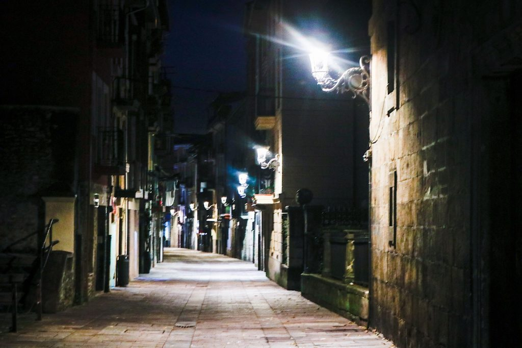 Balmaseda at night. Basque Country