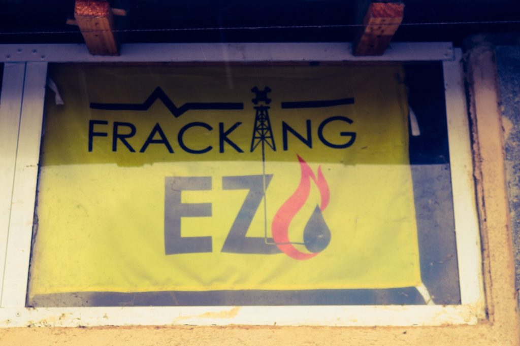 No Fracking. Fracking is banned in Basque Country