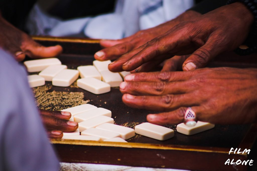 Dominos is a popular past time in Egyptian cafes.